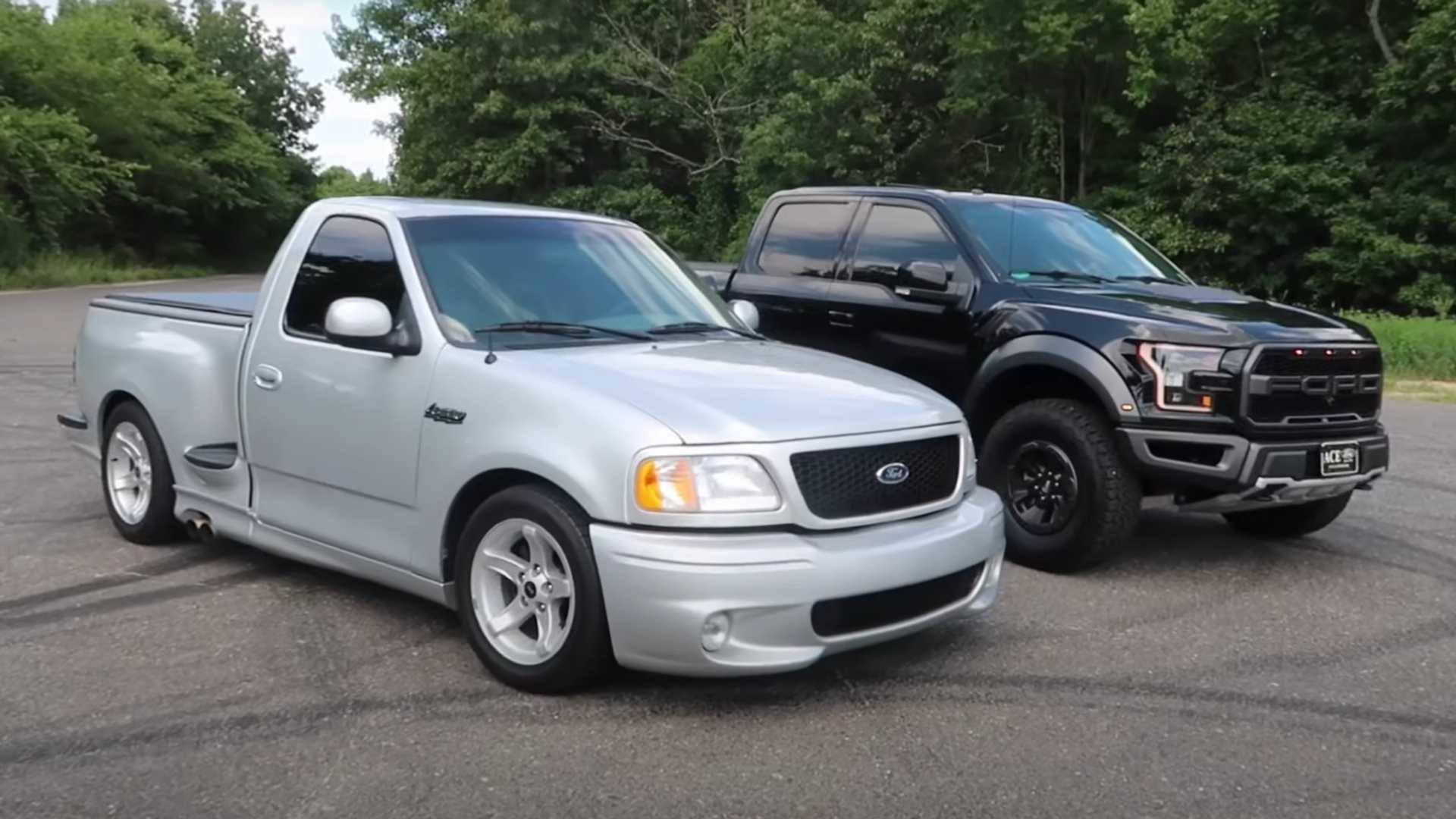Ford F-150 Drag Race Pits Raptor Against SVT Lightning
