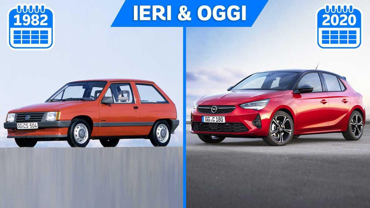 Nuova Opel Corsa vs Corsa prima serie