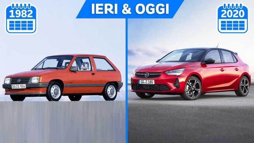 Nuova Opel Corsa, com'è cambiata in 40 anni