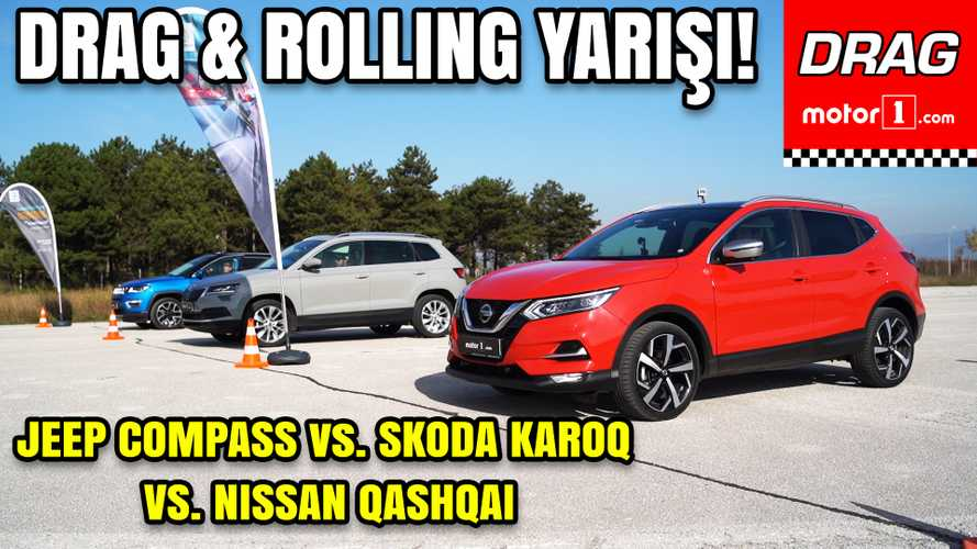 Drag: Nissan Qashqai vs Skoda Karoq vs Jeep Compass