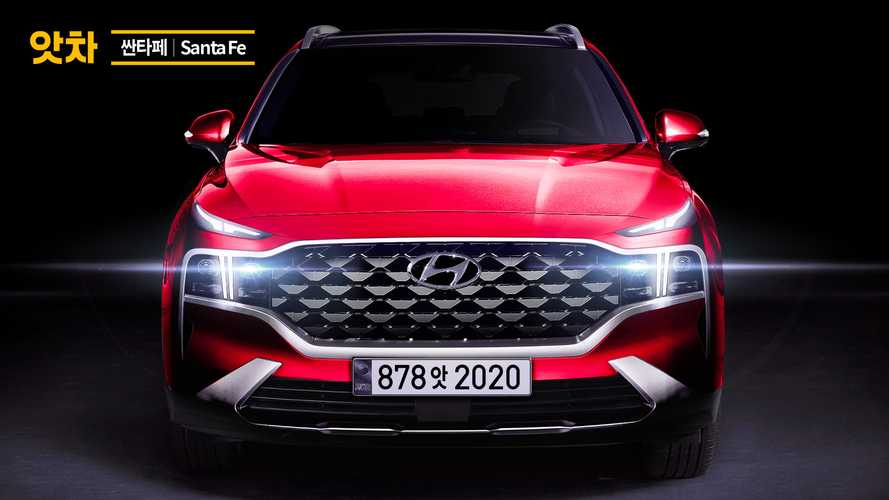 2021 Hyundai Santa Fe rendering based on teaser