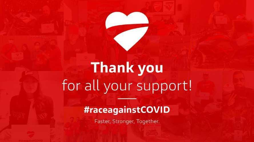 Ducati: oltre 170.000 euro raccolti per la #raceagainstCovid