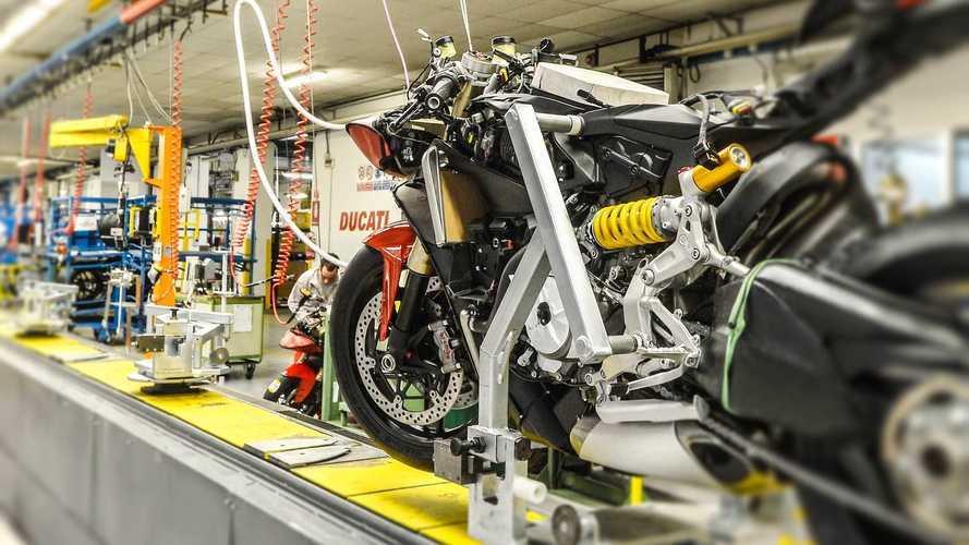 Ducati: la produzione riparte in maniera graduale