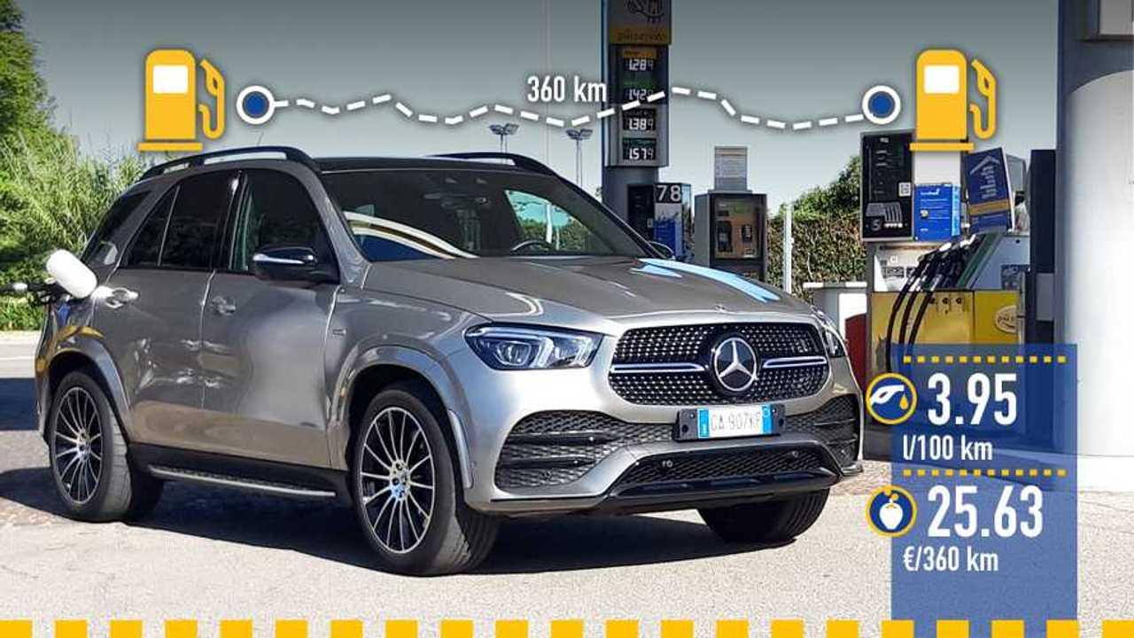 Mercedes GLE ibrida plug-in diesel, la prova consumi