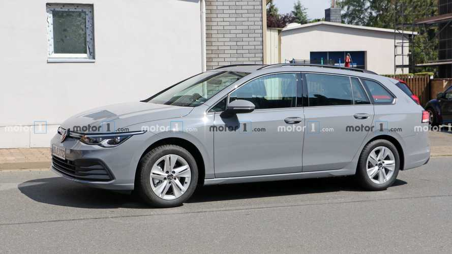 2021 VW Golf Estate spied in RHD with camo only on taillights