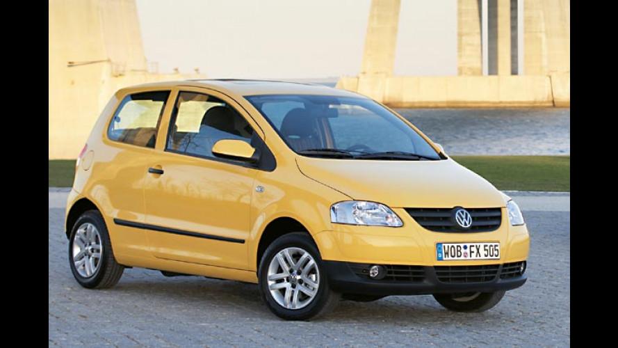 Volkswagen zeigt Fox, Polo-Facelift und zwei Erdgasstudien (2005)