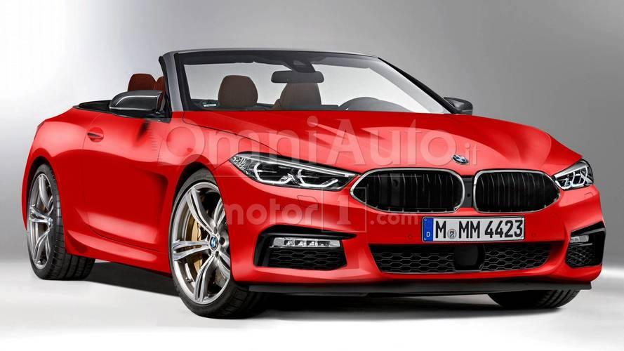 BMW Serie 8 Cabrio, il rendering