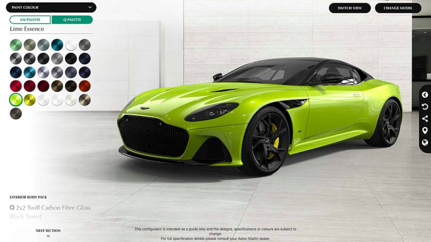 Aston Martin Launches DBS Superleggera Configurator