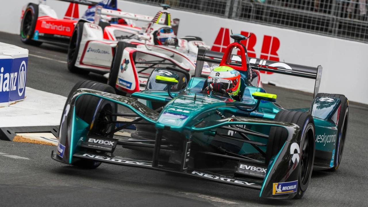 Oliver Turvey, NIO Formula E Team, Jose Maria Lopez, Dragon Racing, Felix Rosenqvist, Mahindra Racing