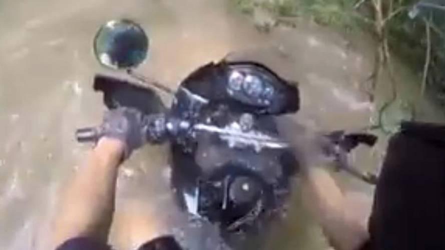 Kawasaki KLR Water Crossing? Video of the Day