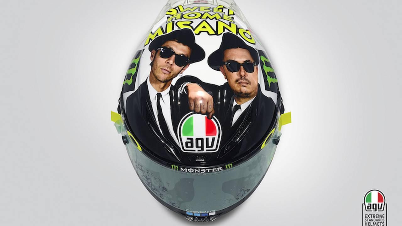 Rossi's Misano Helmet Honors 'Blues Brothers'