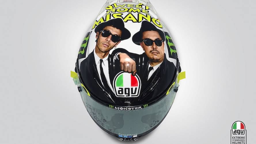 Rossi's Misano Helmet Honors 'Blues Brothers'