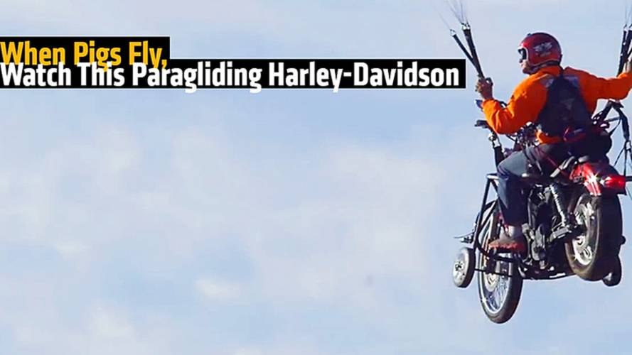 When Pigs Fly, Watch This Paragliding Harley-Davidson