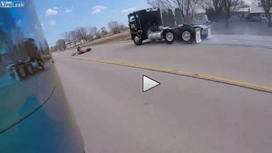 Bike v Dog + Giant Truck - Video of the Day