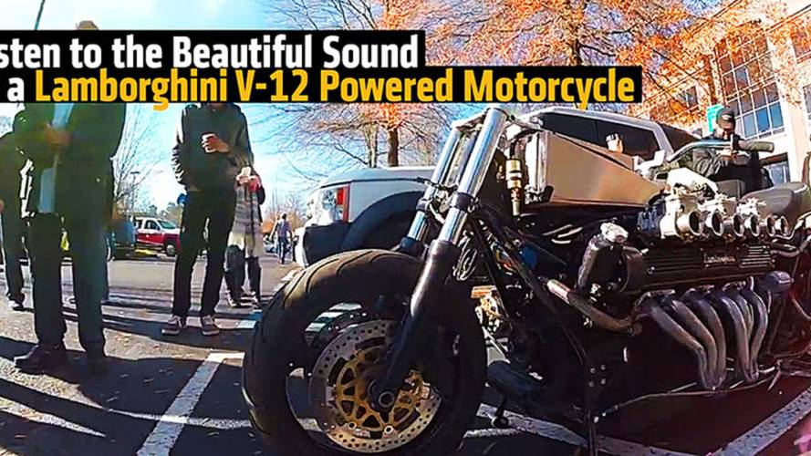 Listen to the Beautiful Sound of a Lamborghini V-12 Powered Motorcycle