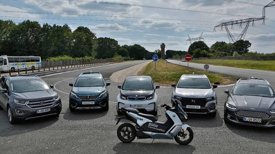 """Tecnologia de comunicação entre veículos e """"tudo"""" é testada por BMW, Ford e PSA"""
