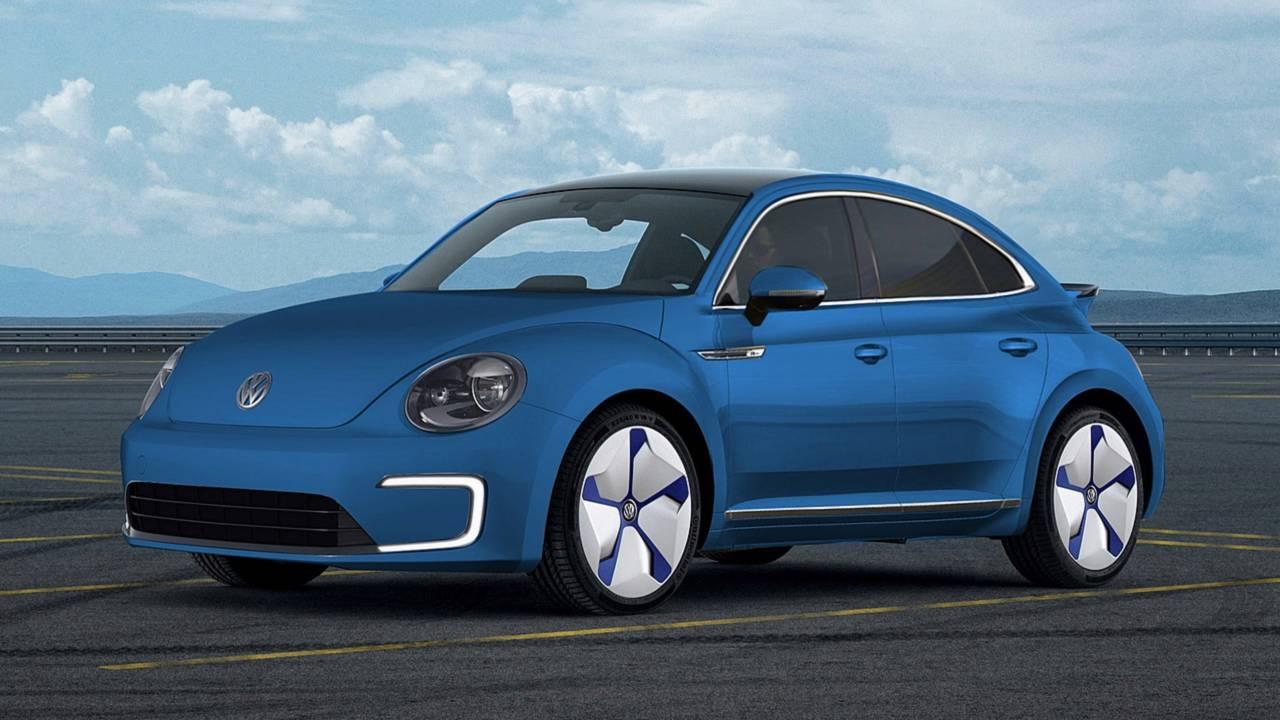 Electric Volkswagen Beetle rendering