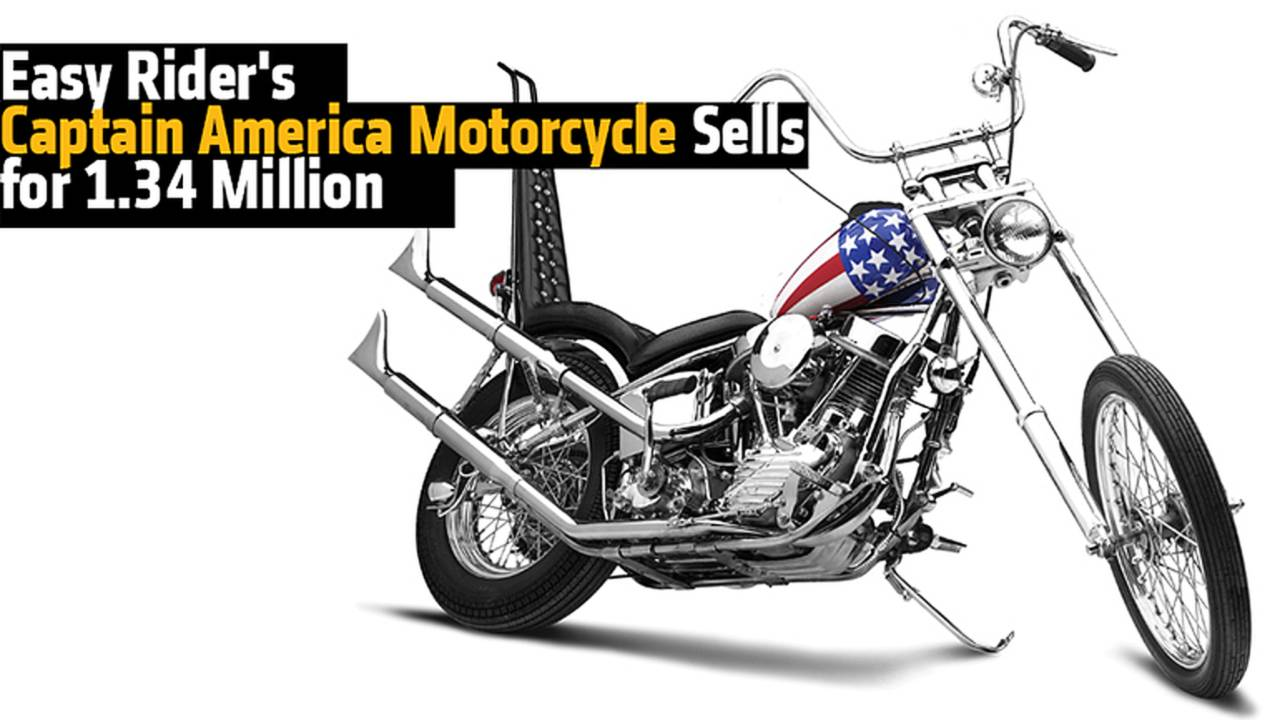 Easy Rider's Captain America Motorcycle Sells for 1.34 Million