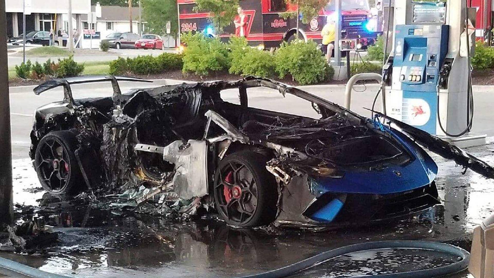Lamborghini Huracan Meets Fiery Demise After Pump Snafu