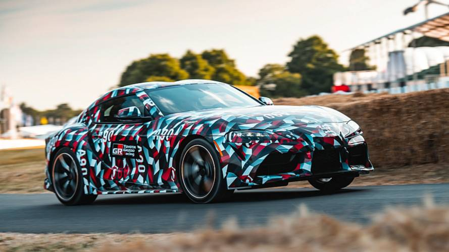 Toyota Supra (2019) in Goodwood im Video