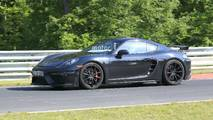 2019 Porsche 718 Cayman GT4 facelift spy photo