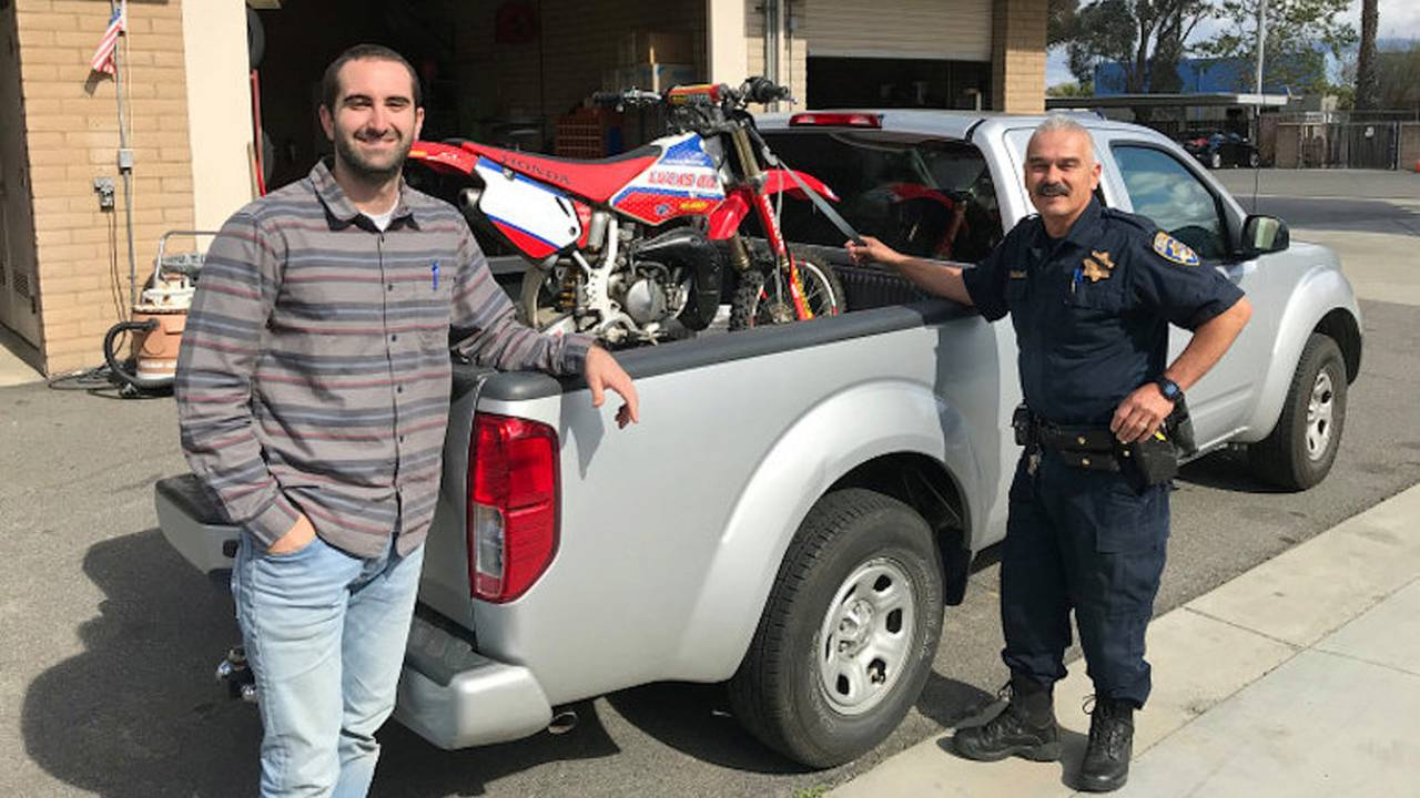 Dirt Bike Returned 17 Years After Being Stolen