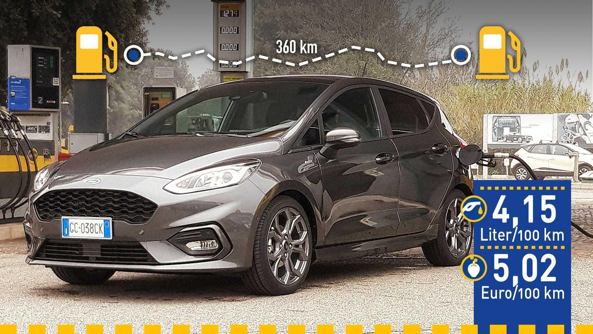Tatsächlicher Verbrauch: Ford Fiesta 1.0 EcoBoost Hybrid mit 125 PS im Test