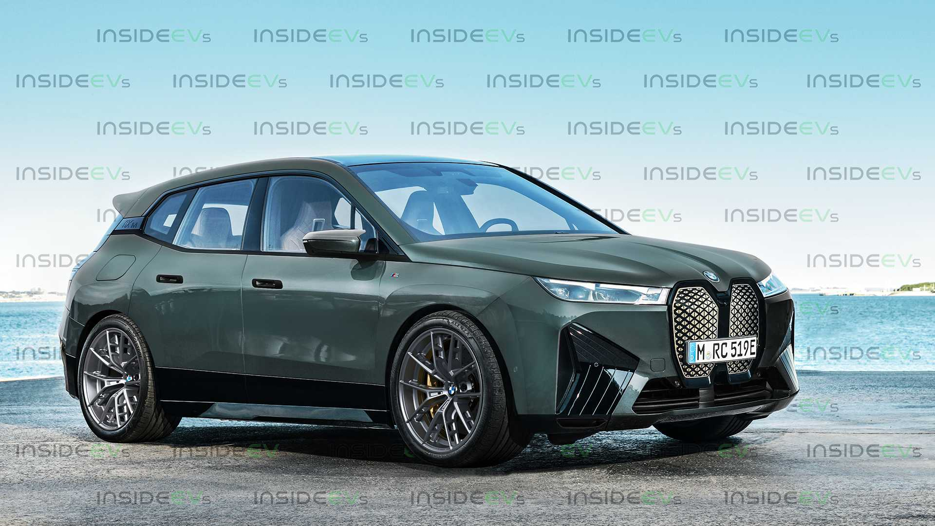 Behold The BMW iX M All-Electric Super SUV... Rendering