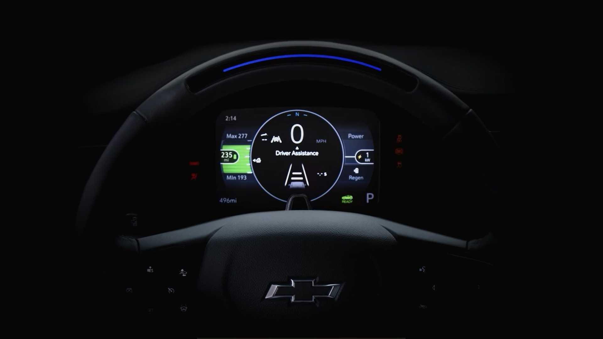 Chevrolet Bolt EUV 2022 года демонстрирует рулевое колесо и дебютирует в феврале