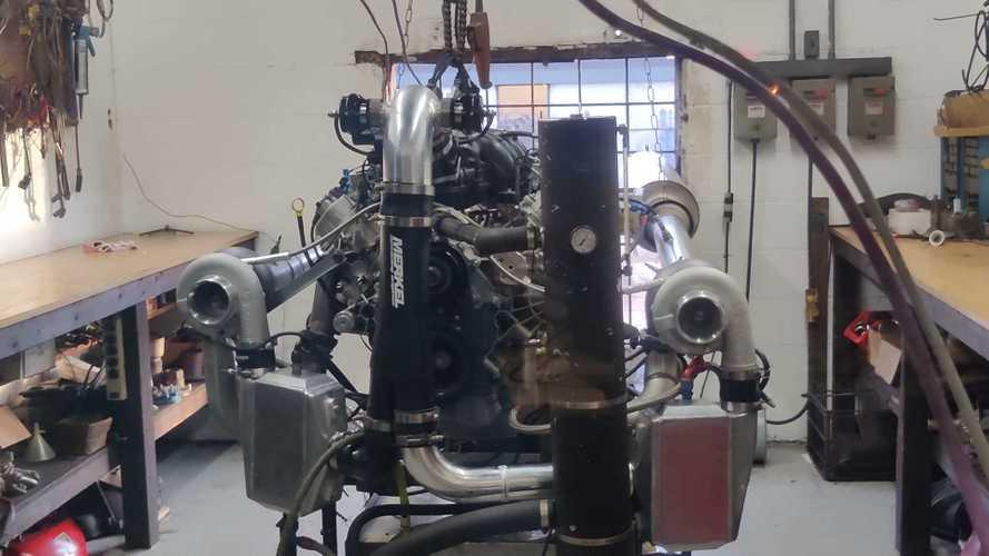 Twin-Turbo Ford Godzilla 7.3-Liter V8 Makes 1,100 Horsepower
