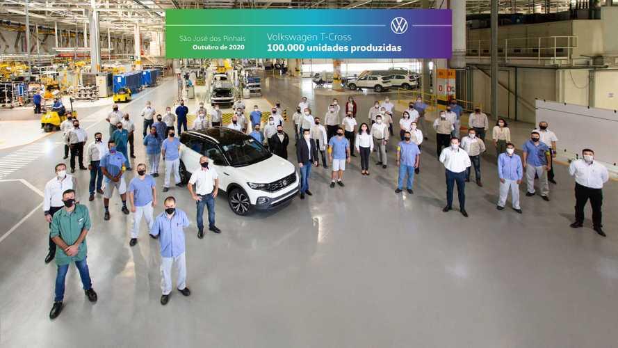 Volkswagen T-Cross já comemora 100 mil unidades produzidas no Brasil