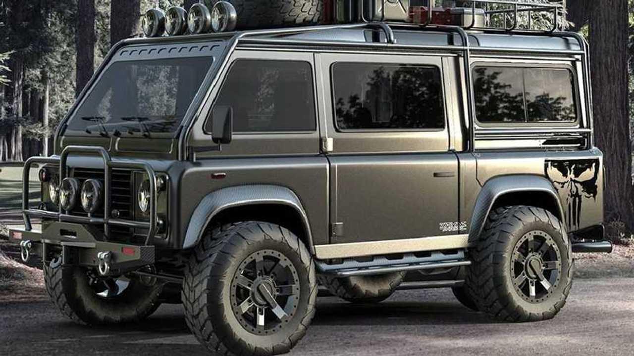 Land Rover Defender Van als Rendering