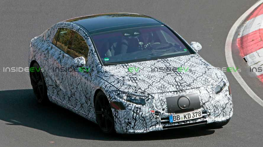 Mercedes-Benz EQS Prototype Spied Hitting The Nurburgring Under Less Camo