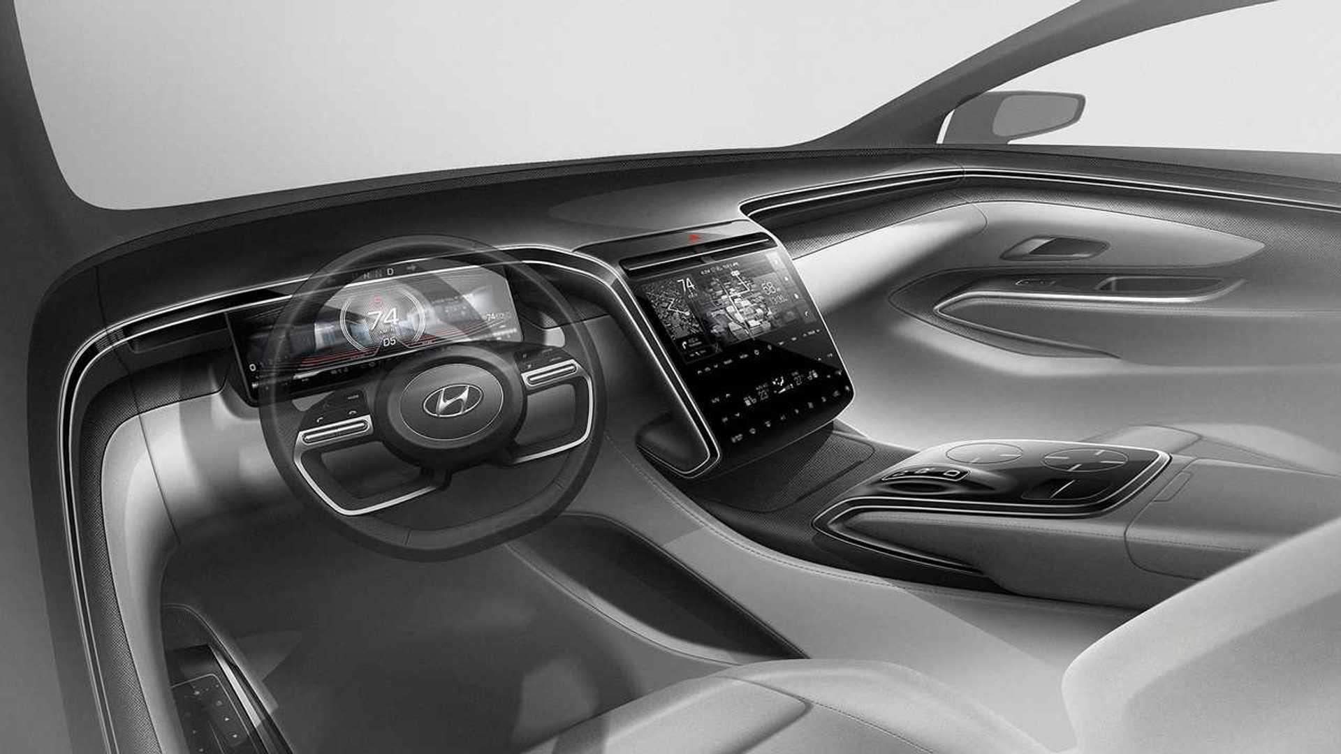 Тизеры Hyundai Tucson (2020), интерьер