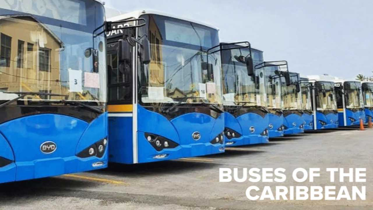 BYD Delivers First Electric Bus Fleet to the Caribbean