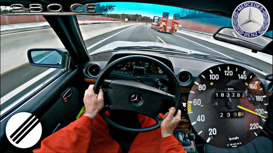 Watch This 36-Year-Old Mercedes 280 CE Go Flat-Out On The Autobahn