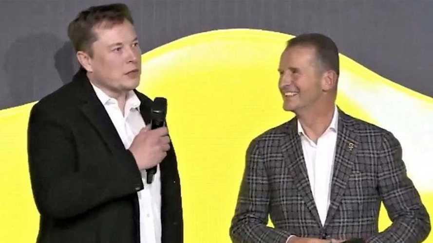Elon Musk qui teste l'ID.3, un signal fort pour la voiture électrique