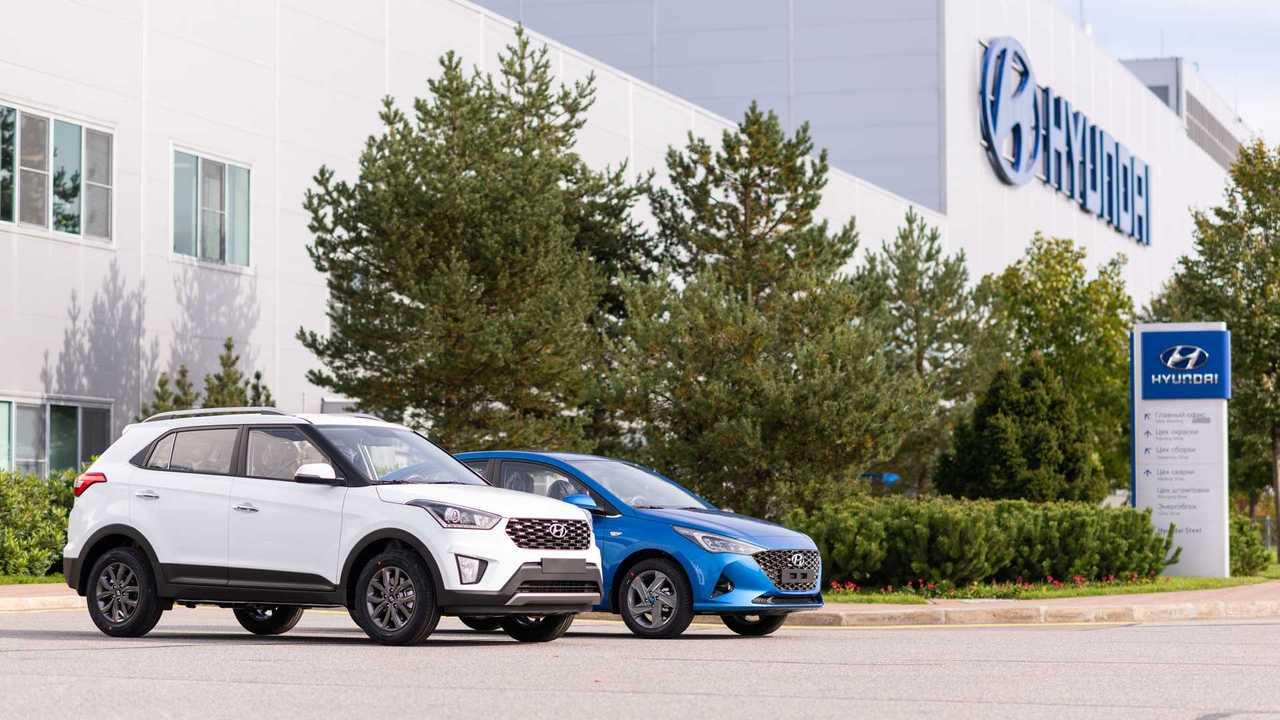 Завод Hyundai под Санкт-Петербургом.