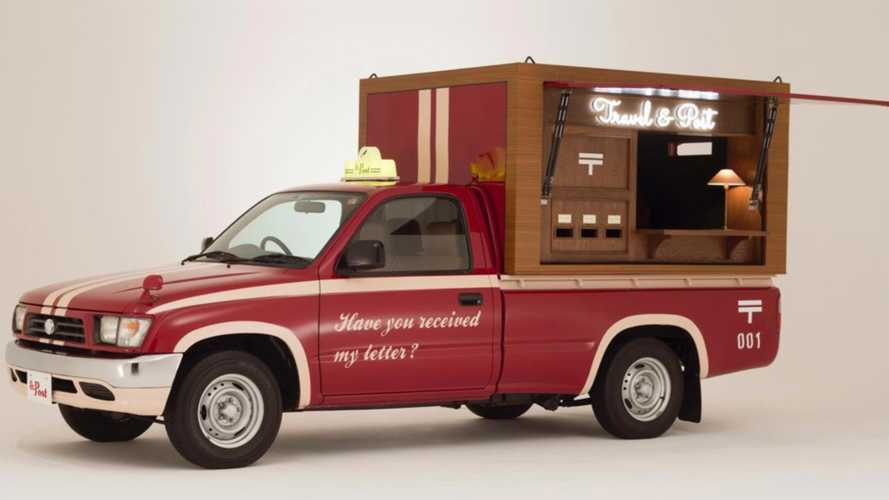 Old Toyota Hilux Becomes Mobile Post Office In Japan