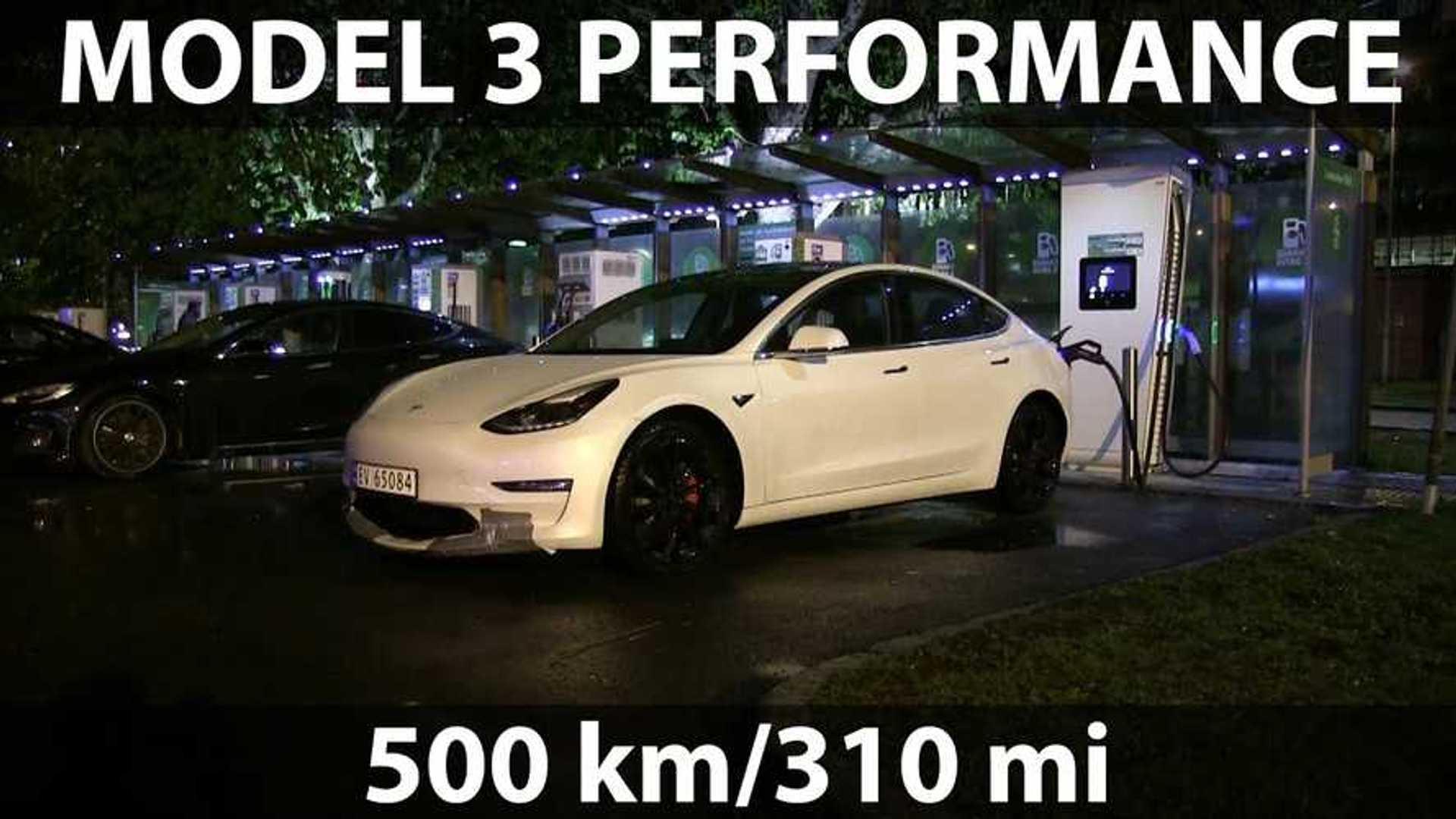 Bjørn Nyland Tests Tesla Model 3 Performance Battery Capacity