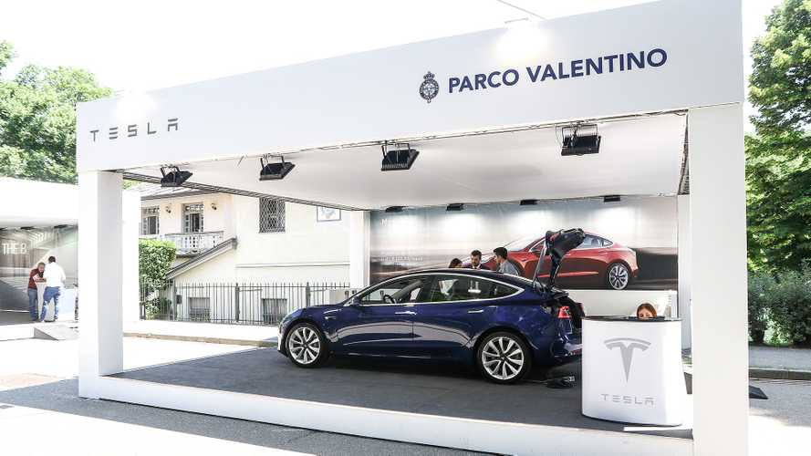 Tesla Model 3 a Parco Valentino 2019
