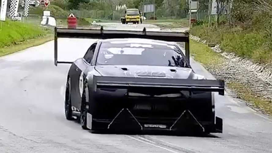 Nissan GT-R Hill Climber Has Plenty Of Wing, 1,600 HP At The Wheels