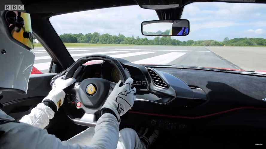 Watch The Stig break Top Gear lap record with Ferrari 488 Pista