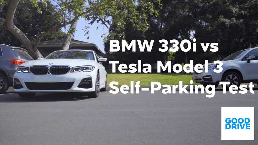 Tesla Model 3 Versus BMW 3 Series In Autopark Contest: Video