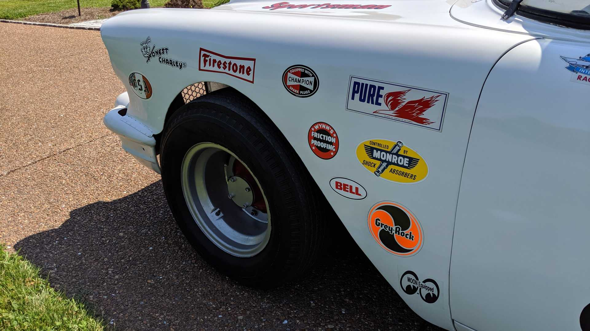 """[""""1957 Chevrolet Bel Air Stock Car Being Auctioned At No Reserve""""]"""