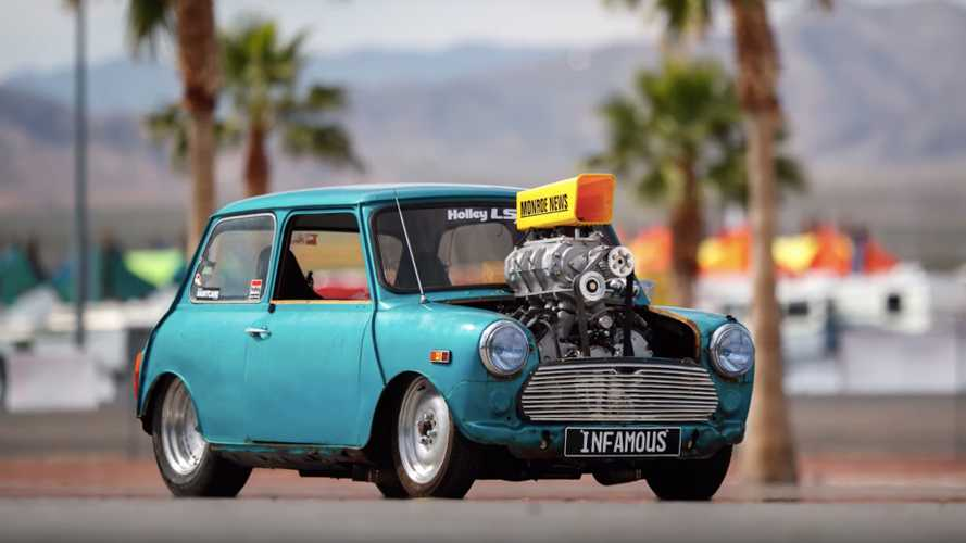 LS-Swapped Mini Cooper Burnout Machine
