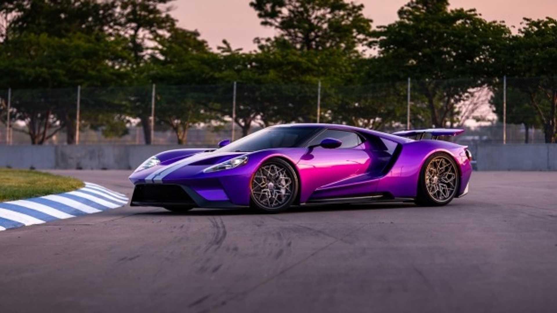 Stunning Purple Ford GT Has 3D-Printed Titanium Wheels