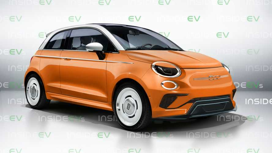 Next-gen Fiat 500 electric car rendered to life