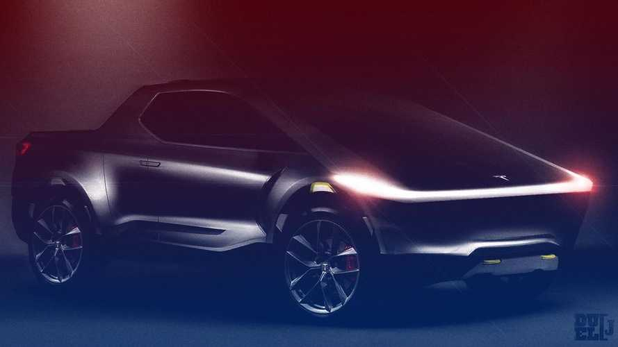 Tesla pickup truck render based on Elon Musk teaser comes to life