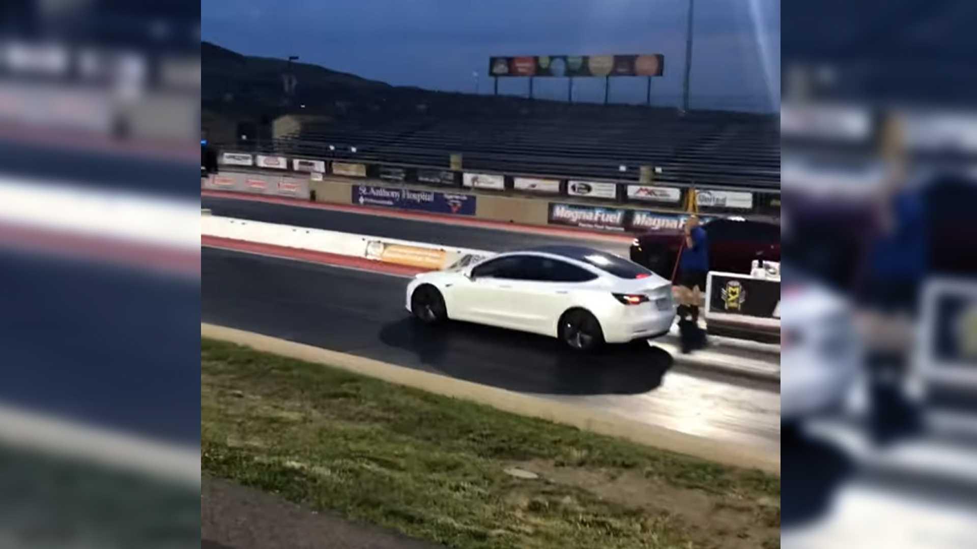 Tesla Model 3 Performance Trounces Challenger Hellcat In Drag Race